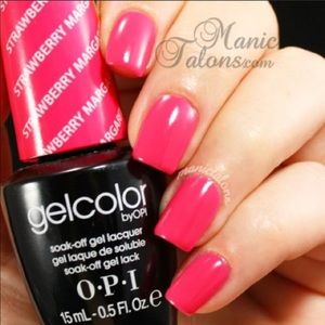 OPI Gelcolor strawberry margarita gel polish